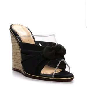 Charlotte Olympia Black Lucite Clear Espadrilles